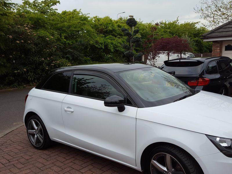 Audi A1 – Gloss Black Roof, Spoiler & Mirrors